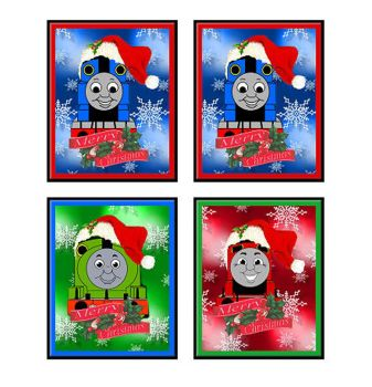 Christmas Thomas the Tank Engine Card Making Toppers x 4