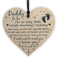 Daddy To Be Heart Plaque