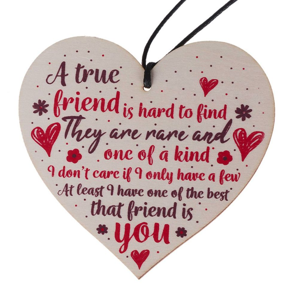 True Friend Heart Plaque