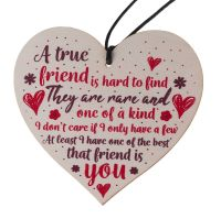 True Friend Heart Plaque