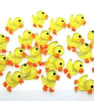 Mini Duckling Resin Craft Embellishments x 5