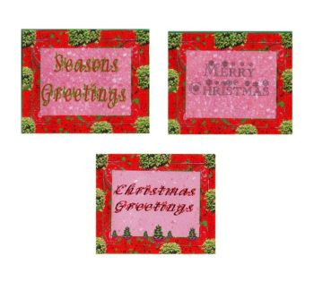 Christmas Traditional Greetings Paper Embellishments x 8