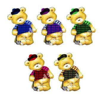 Golf Teddy Bear Card Toppers x 5