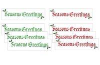 Seasons Greetings Craft Banner Embellishments x 20