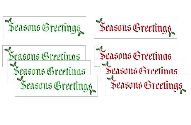 Seasons Greetings Craft Banner Embellishments x 20
