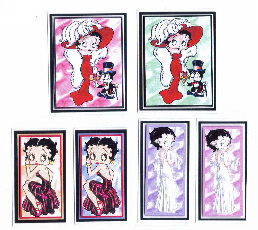 Betty Boop Card Making Toppers x 6