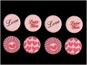 Valentines Day Round Embellishments