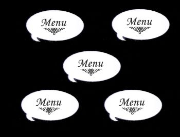 Menu Speech Die Cut Embellishments