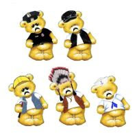YMCA Theme Teddy Bear Card Toppers