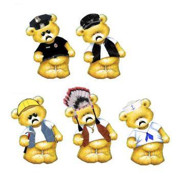YMCA Theme Teddy Bear Card Toppers