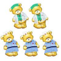 Doctor and Nurse Teddy Bear Card Toppers