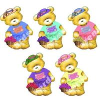 Happy Mother's Day Teddy Bear Card Toppers