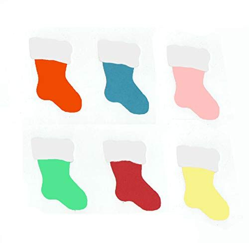 Christmas Stockings Craft Embellishments x 30