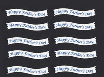 Happy Father's Day Banner Embellishments x 10