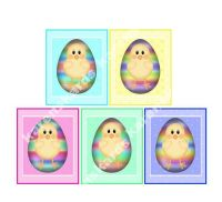 Easter Chicks Card Making Toppers - Large