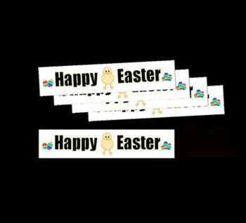 Happy Easter Chick Design Die Cut Banners x 24