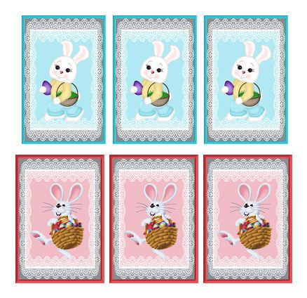 Easter Bunny and Rabbit Card Making Toppers