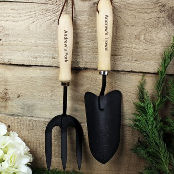 Personalised Fork and Trowel Set