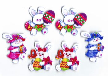 Easter Charater Bunny Card Making Toppers