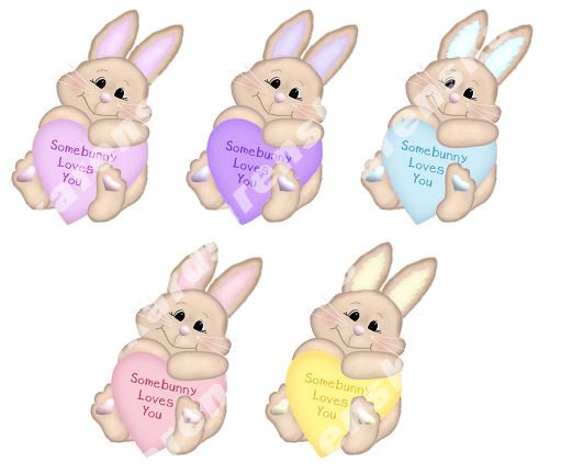 Somebunny Loves You Card Making Toppers