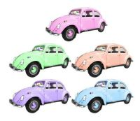 Beetle Cars Card Making Toppers x 5