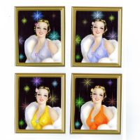 Glamorous Hollywood Ladies Card Making Toppers x 4