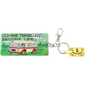 Campervan Keyring 'Old age travellers enjoying life'