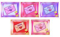 Valentines Greetings - Teddy Topper and Envelope Theme x 10