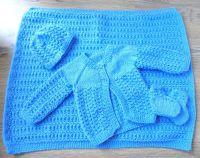 Baby Boy Blue Matinee Set