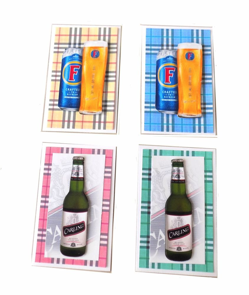 Beer Card Making Toppers x 4