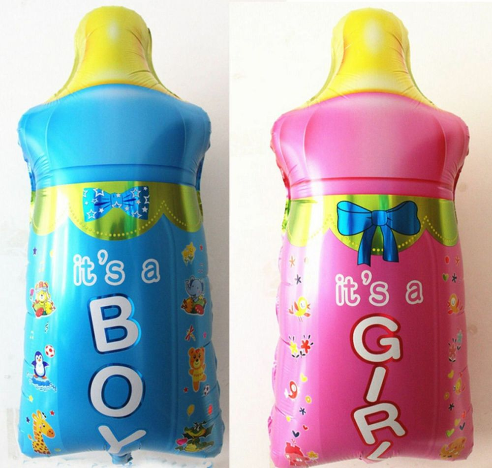 Baby It's a Boy or Girl Bottle Foil Balloon - Large