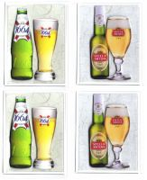 Lager Card Making Toppers x 4