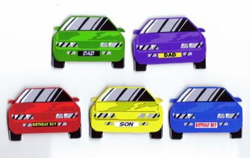 Car Cardmaking Craft Toppers - Dad, Son etc