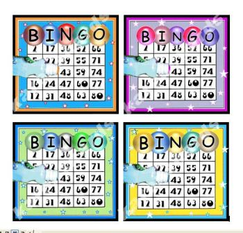 Bingo Card Making Topper Embellishments x 4