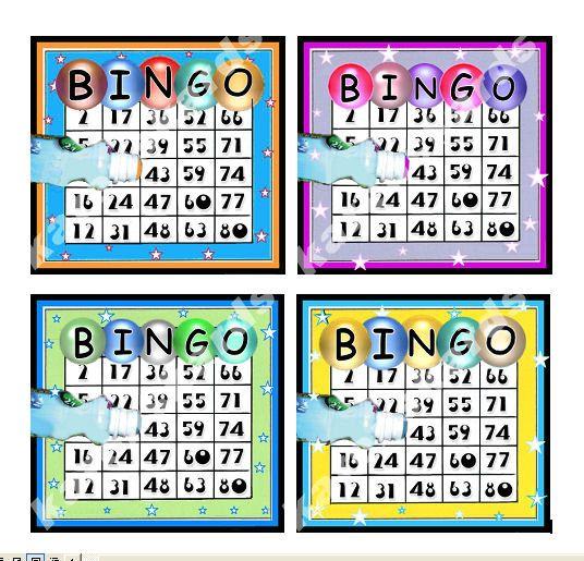Bingo Card Making Topper Embellishments x 4