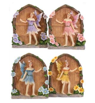 Magical Lucky Fairy Secret Garden Door Ornament in a Choice of 4 Shades