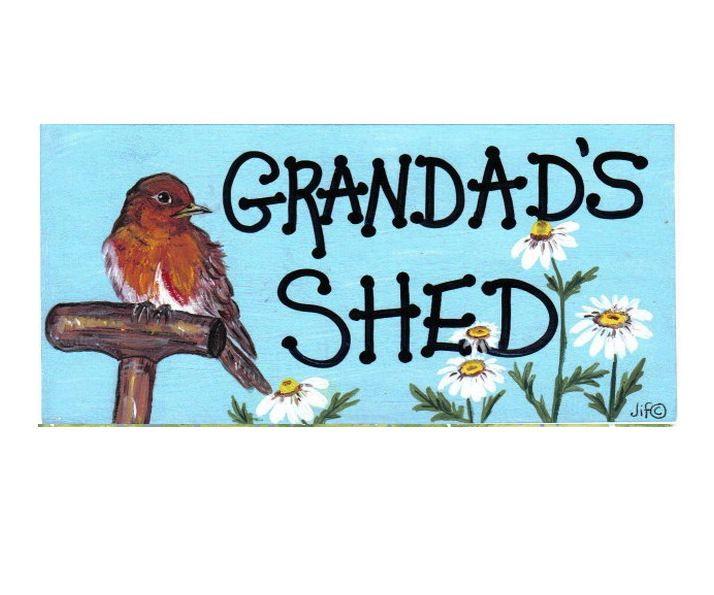 Grandad's Shed Hanging Sign
