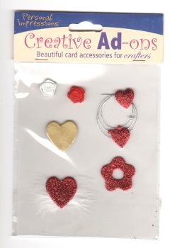 Creative Ad-ons Hearts and Flowers Embellishments