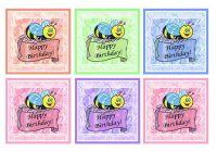 Happy Birthday Cute Bee Card Making Toppers x 6