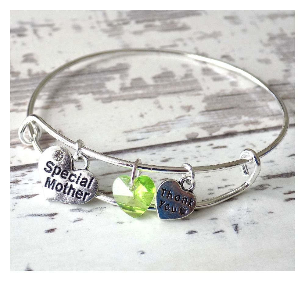 Special Mother Charm Bracelet Thank You Christening Gift
