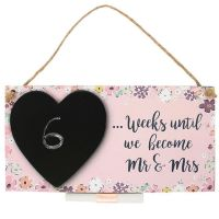 Wedding Countdown Hanging Plaque