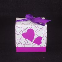 Wedding favour box in Plum and Purple