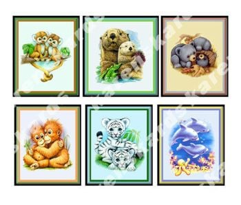 Animals Card Making Toppers Embellishments x 6