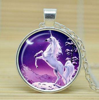 Unicorn Pendant Long Necklace