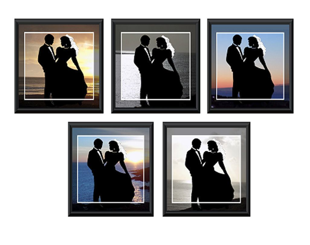 Bride and Groom Card Making Toppers - Sunset View