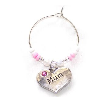 Mum Wine Glass Charm Birthday, Christmas, Mother's Day gift