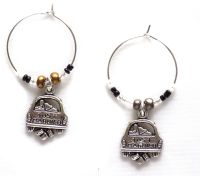Wedding just married wine charms x 2