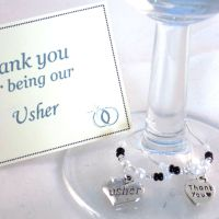 Usher Thank You Personalised Wine Glass Charms