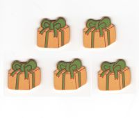 Christmas Presents Wooden Embellishments x 10