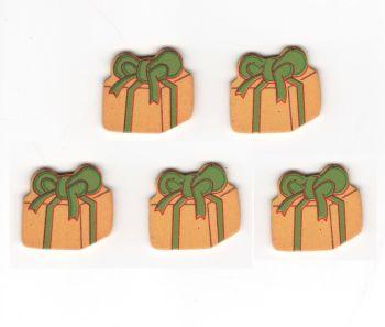 Christmas Presents Wooden Embellishments x 10